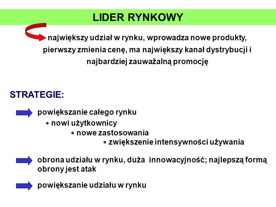 LIDER RYNKOWY STRATEGIE: