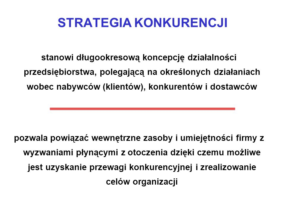 STRATEGIA KONKURENCJI