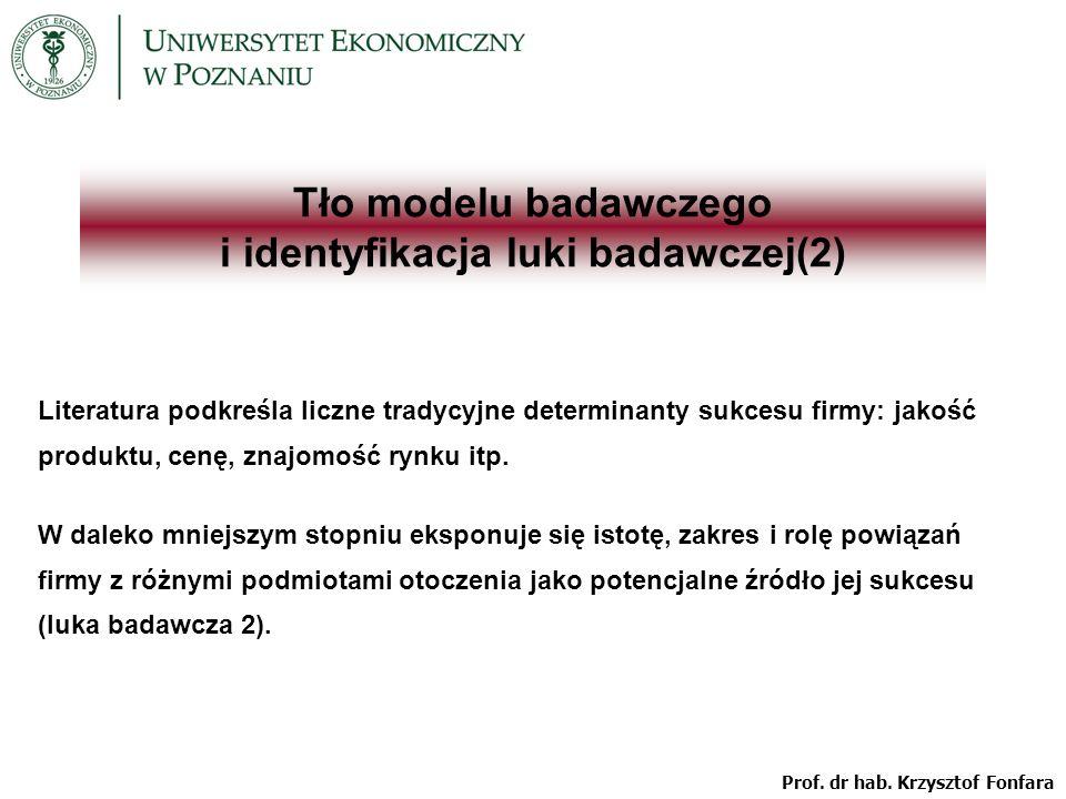 Tło modelu badawczego i identyfikacja luki badawczej(2)