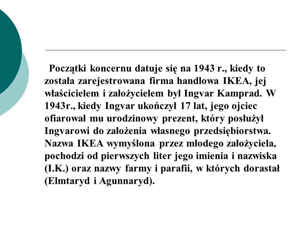 Początki koncernu datuje się na 1943 r