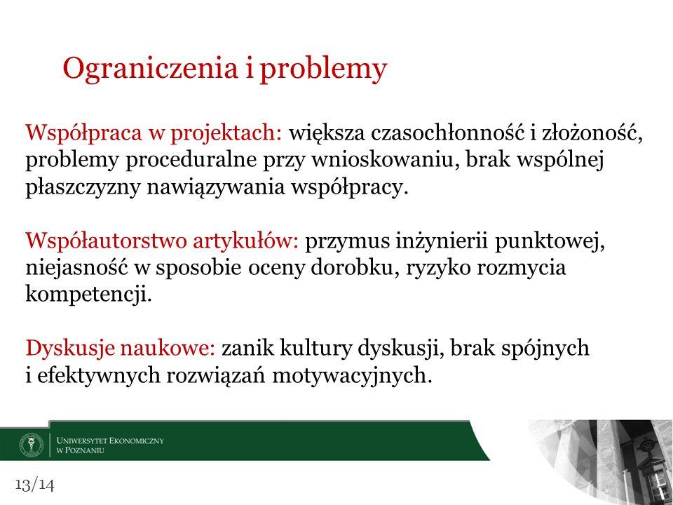 Ograniczenia i problemy