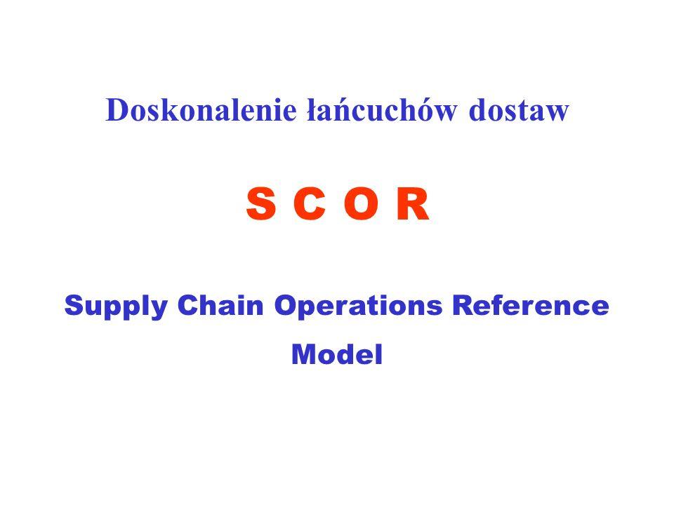 Doskonalenie łańcuchów dostaw Supply Chain Operations Reference Model