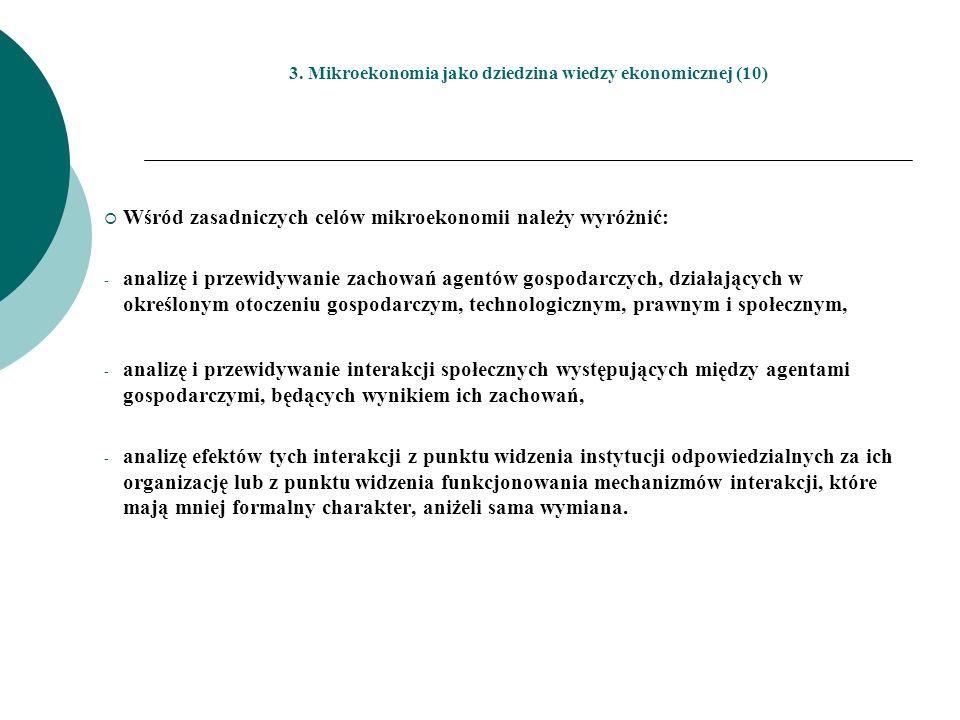 3. Mikroekonomia jako dziedzina wiedzy ekonomicznej (10)