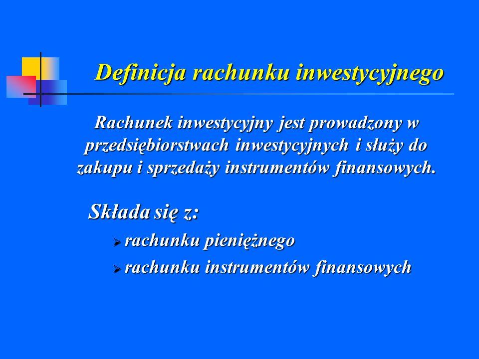 Definicja rachunku inwestycyjnego