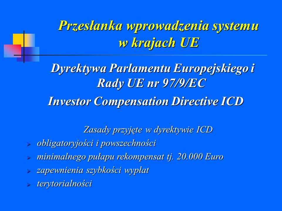 Przesłanka wprowadzenia systemu w krajach UE