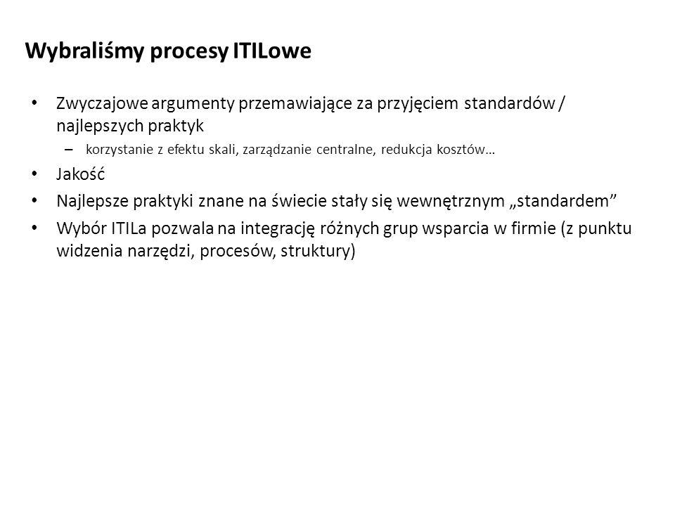 Wybraliśmy procesy ITILowe