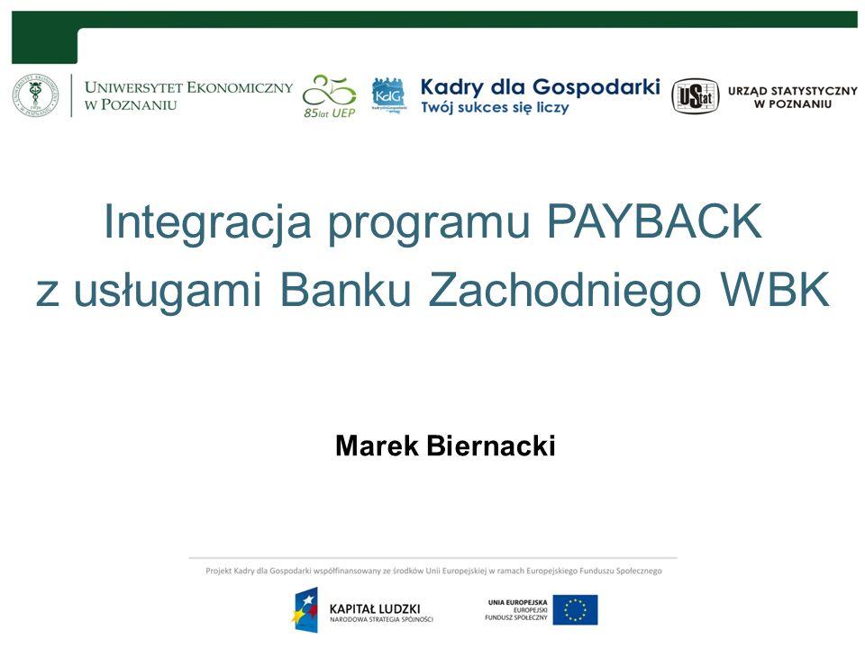 Integracja programu PAYBACK z usługami Banku Zachodniego WBK