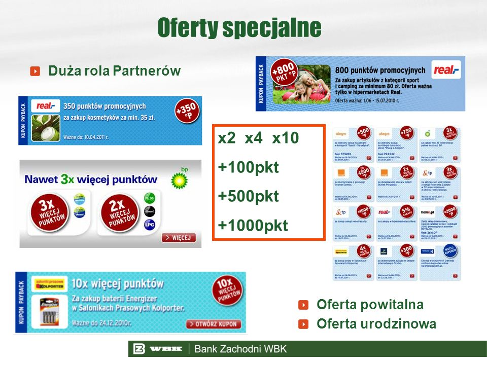 Oferty specjalne x2 x4 x10 +100pkt +500pkt +1000pkt