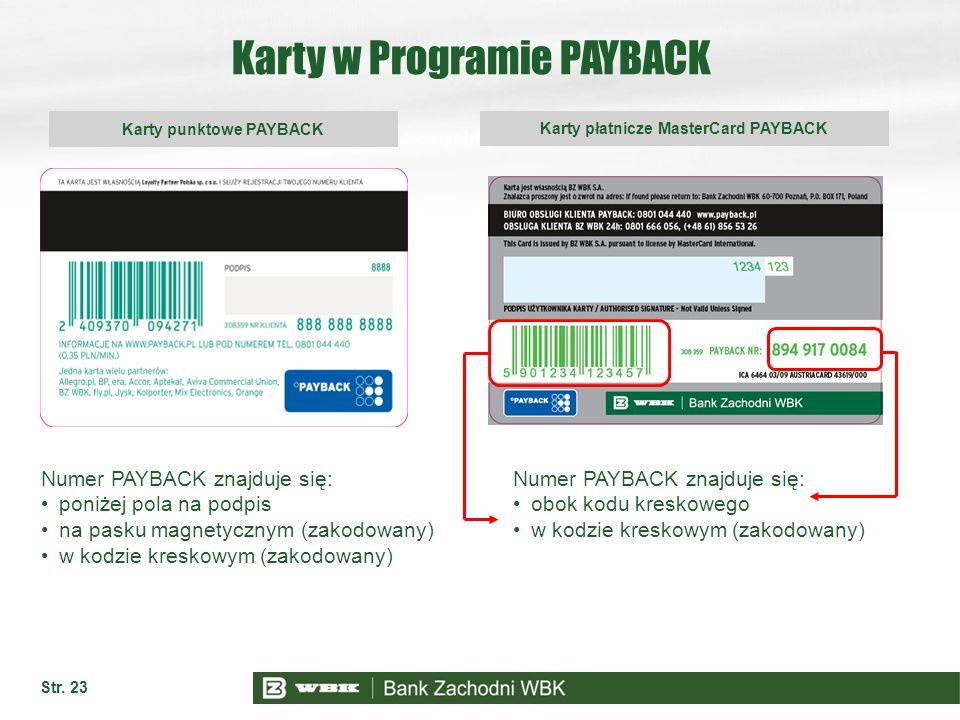 Karty w Programie PAYBACK