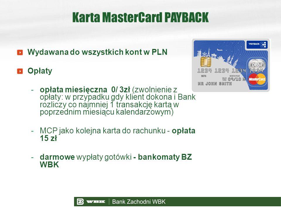 Karta MasterCard PAYBACK