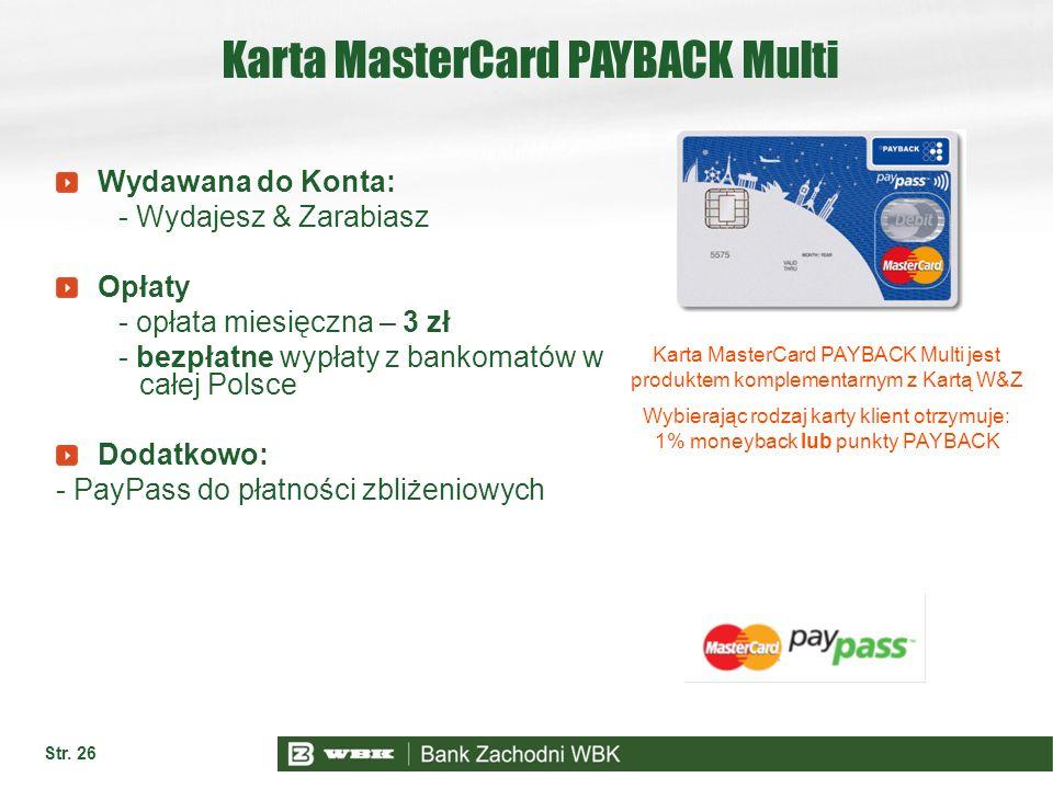 Karta MasterCard PAYBACK Multi