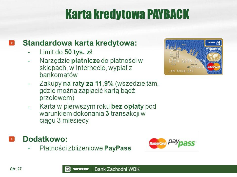 Karta kredytowa PAYBACK