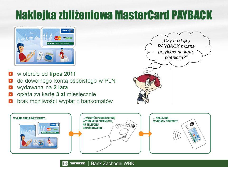 Naklejka zbliżeniowa MasterCard PAYBACK
