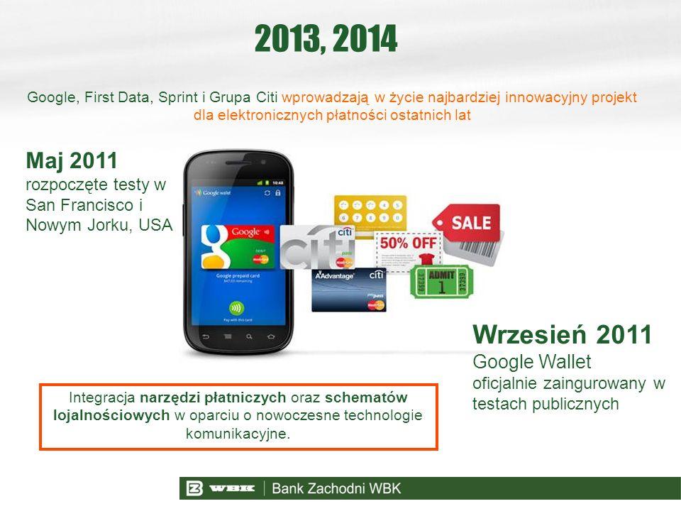 2013, 2014 Wrzesień 2011 Maj 2011 Google Wallet