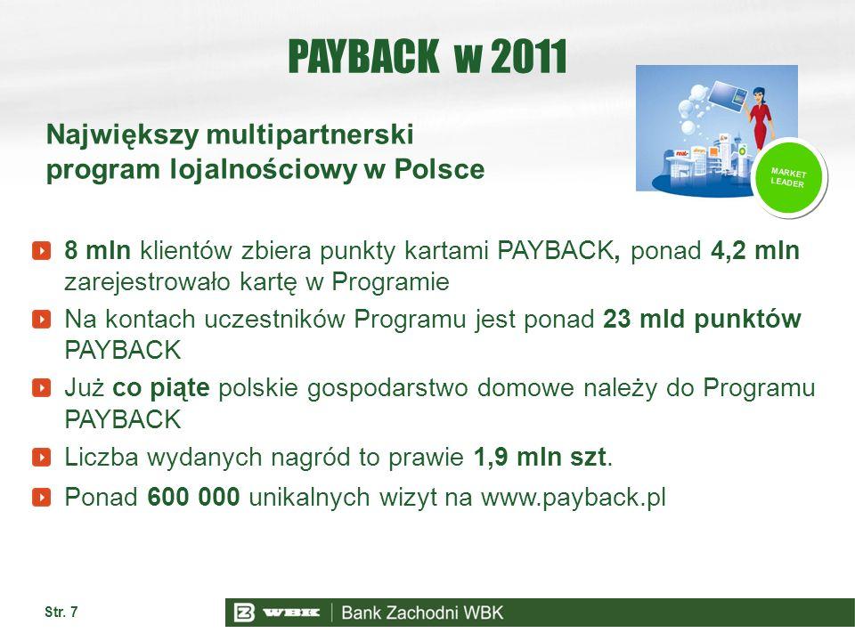 PAYBACK w 2011 Największy multipartnerski