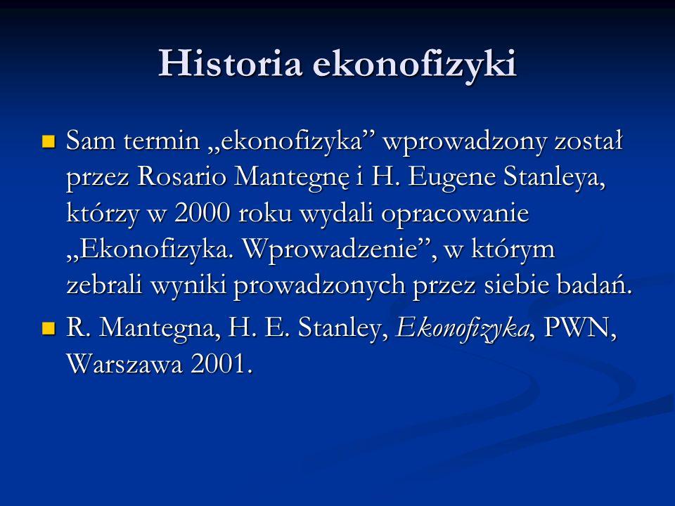 Historia ekonofizyki