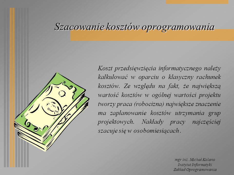 Szacowanie kosztów oprogramowania