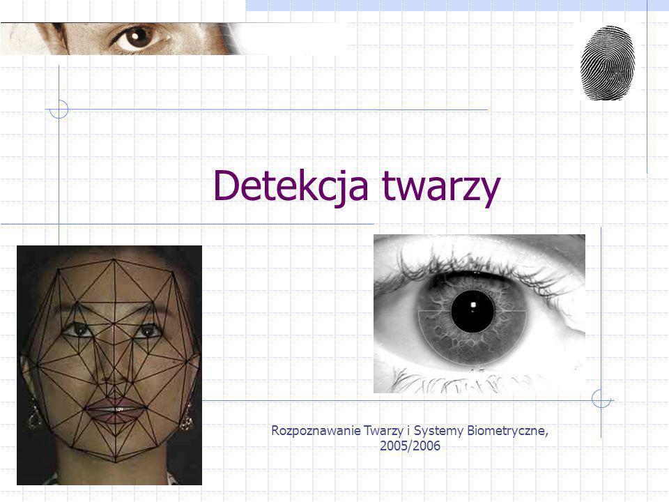 Rozpoznawanie Twarzy i Systemy Biometryczne, 2005/2006
