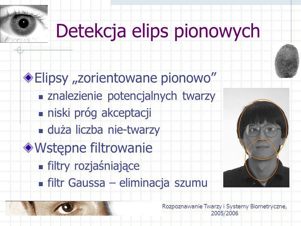 Detekcja elips pionowych