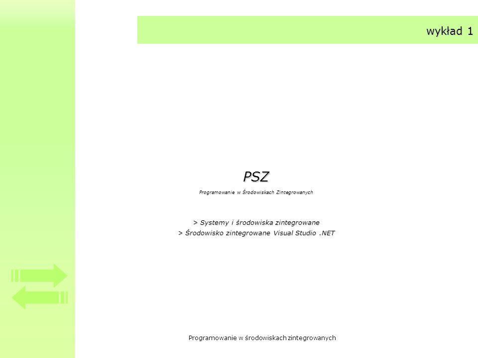 PSZ wykład 1 > Systemy i środowiska zintegrowane