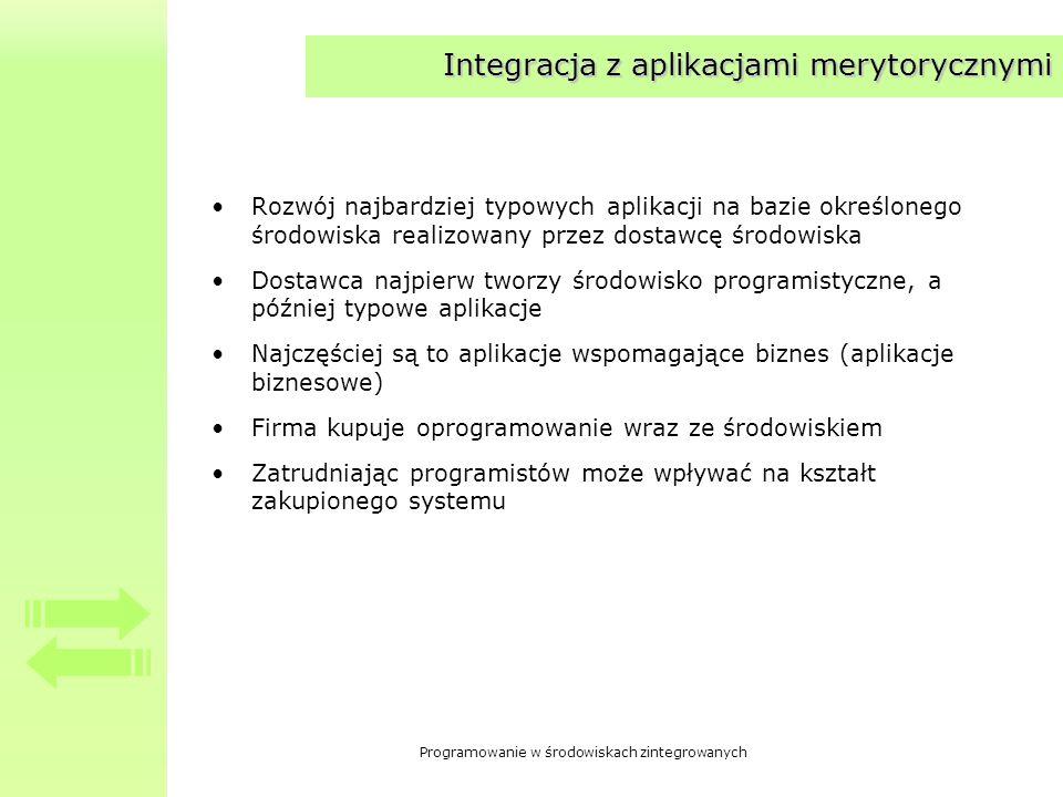 Integracja z aplikacjami merytorycznymi