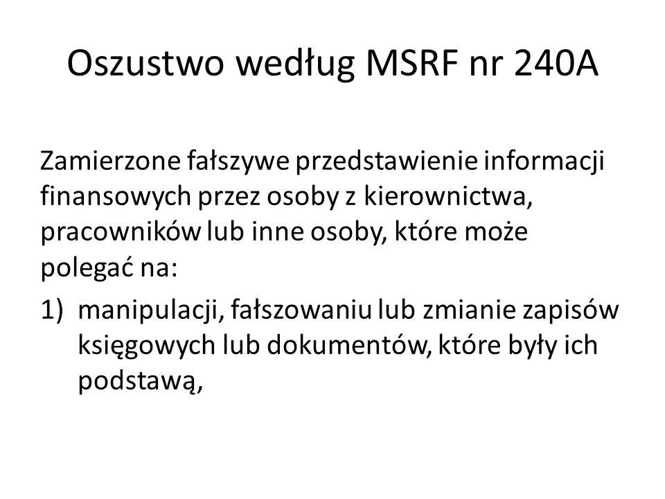 Oszustwo według MSRF nr 240A