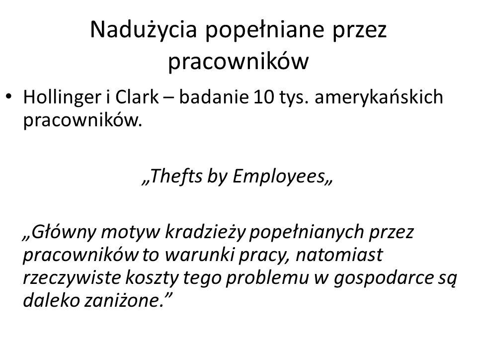 Nadużycia popełniane przez pracowników