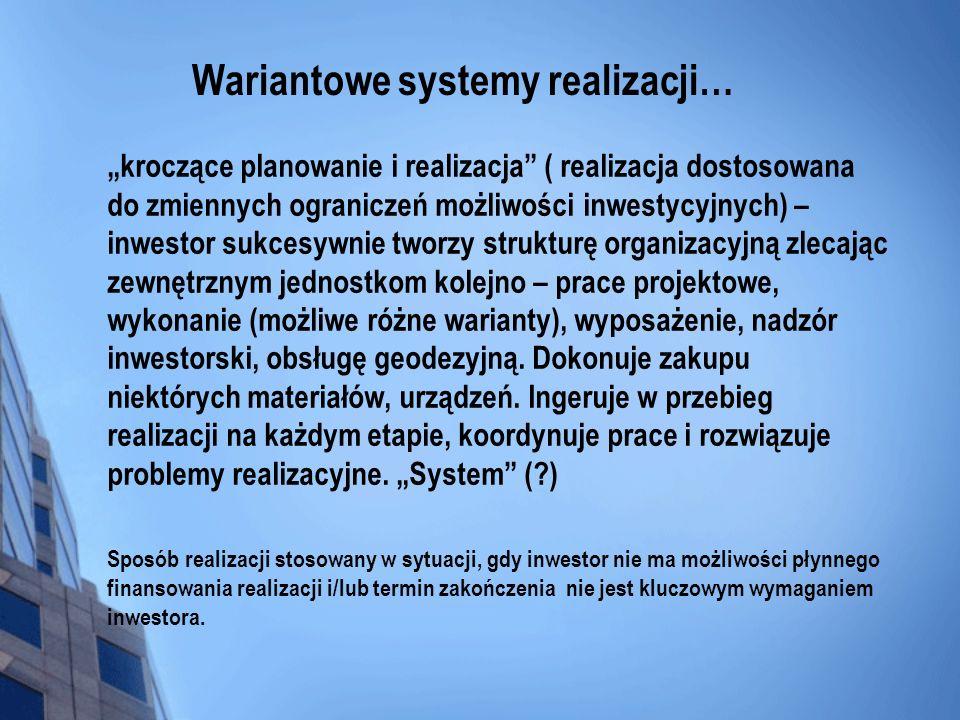 Wariantowe systemy realizacji…