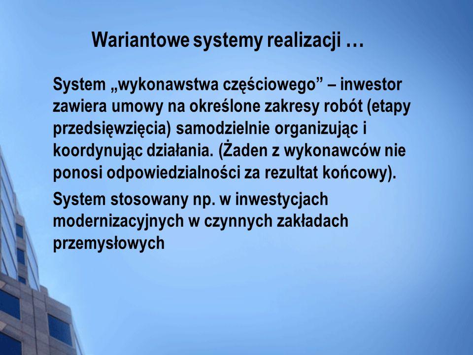 Wariantowe systemy realizacji …