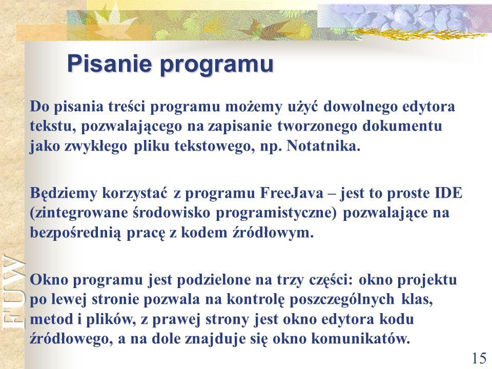 Pisanie programu