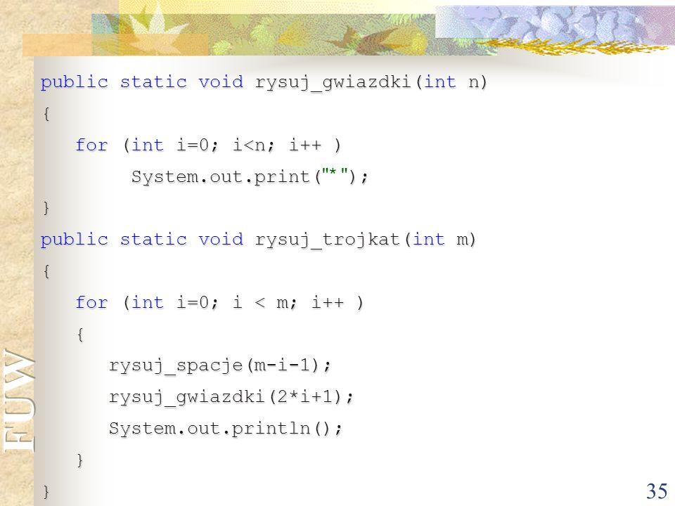 public static void rysuj_gwiazdki(int n)