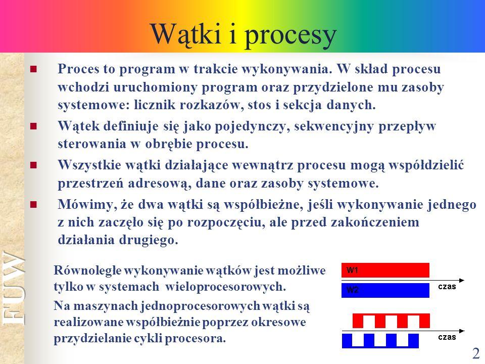 Wątki i procesy