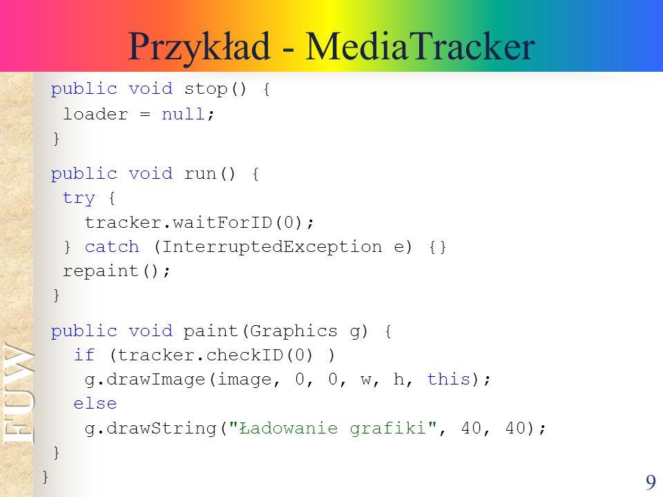 Przykład - MediaTracker