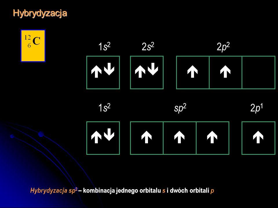     1s2 2s2 2p2 1s2 sp2 2p1 Hybrydyzacja