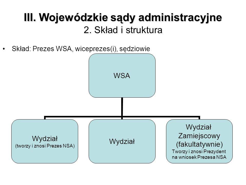 III. Wojewódzkie sądy administracyjne 2. Skład i struktura