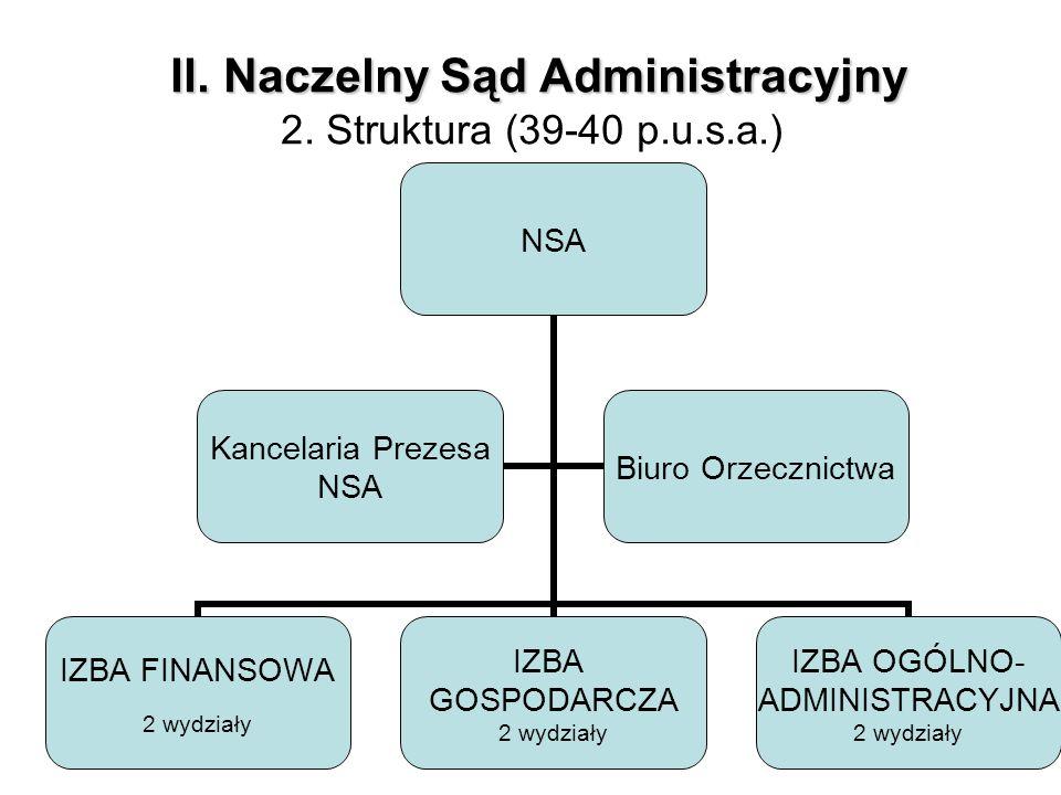 II. Naczelny Sąd Administracyjny 2. Struktura (39-40 p.u.s.a.)