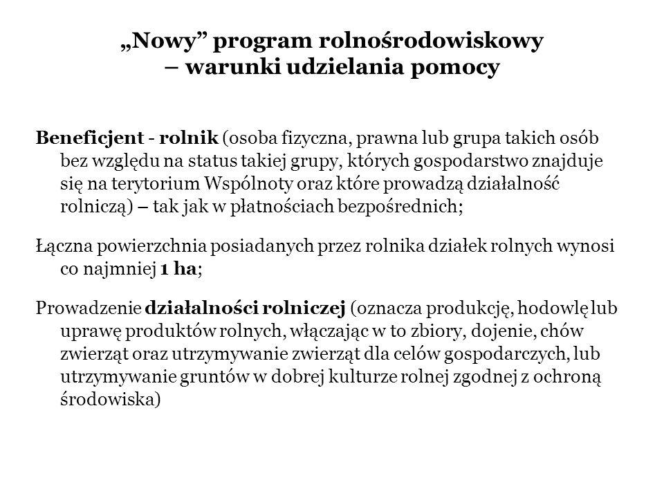"""""""Nowy program rolnośrodowiskowy – warunki udzielania pomocy"""