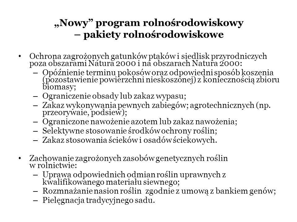 """""""Nowy program rolnośrodowiskowy – pakiety rolnośrodowiskowe"""