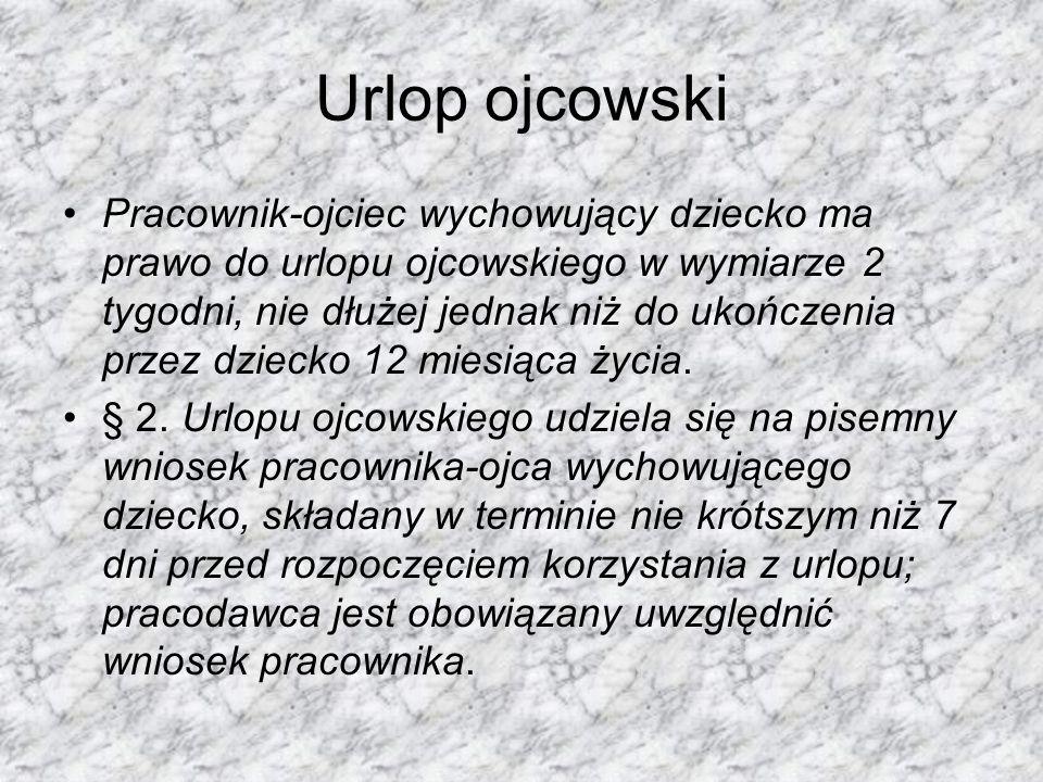 Urlop ojcowski