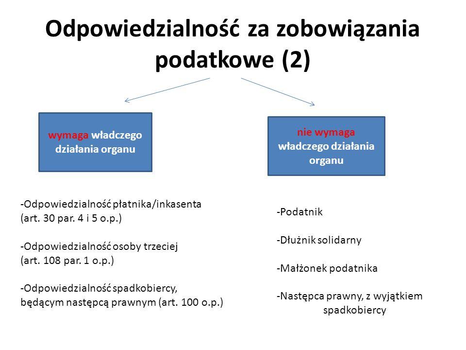 Odpowiedzialność za zobowiązania podatkowe (2)