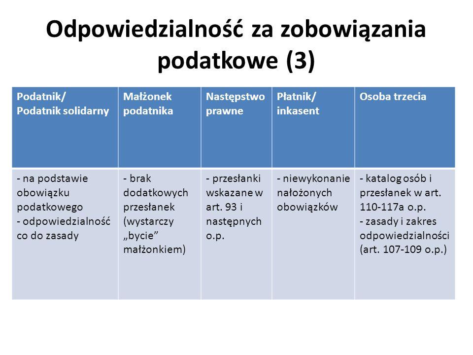 Odpowiedzialność za zobowiązania podatkowe (3)