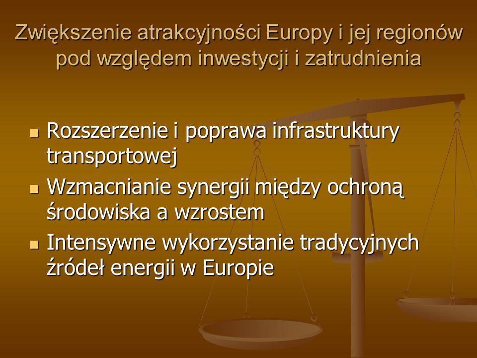Zwiększenie atrakcyjności Europy i jej regionów pod względem inwestycji i zatrudnienia