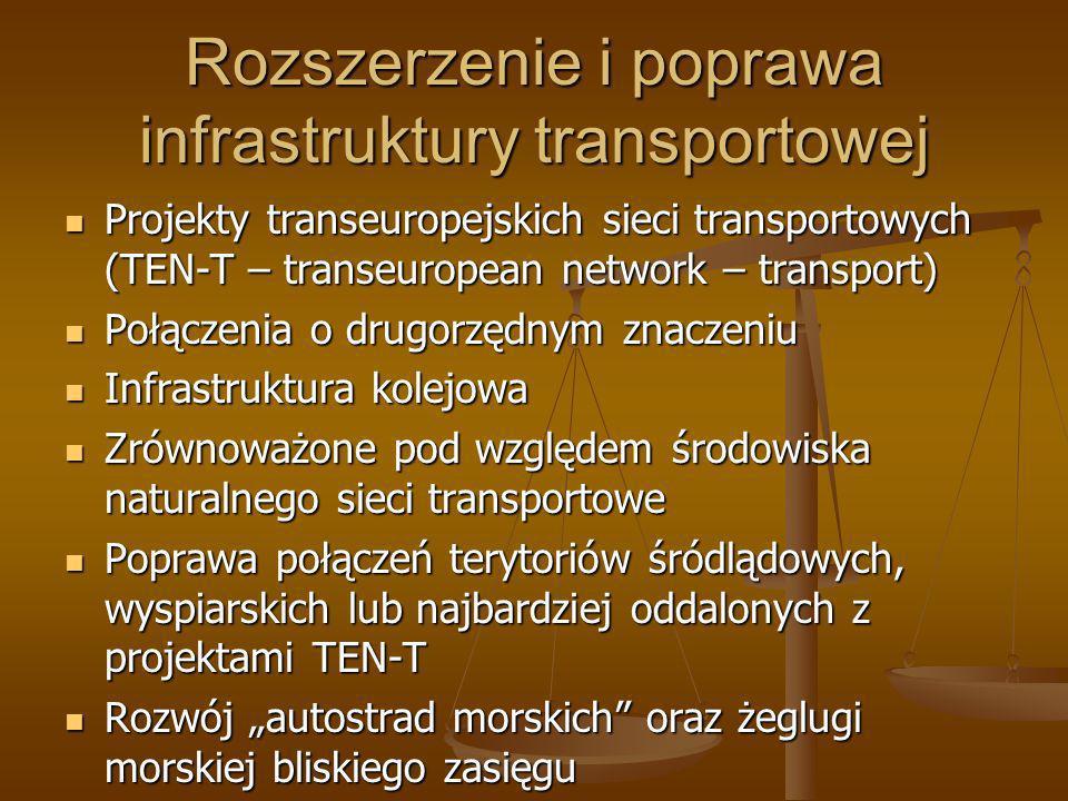 Rozszerzenie i poprawa infrastruktury transportowej