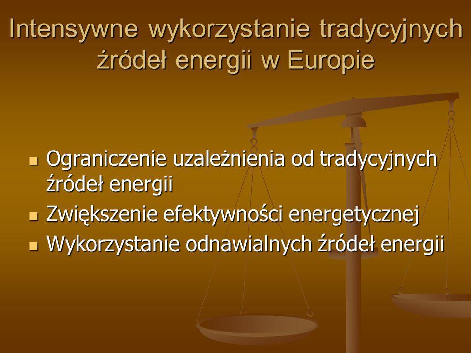 Intensywne wykorzystanie tradycyjnych źródeł energii w Europie