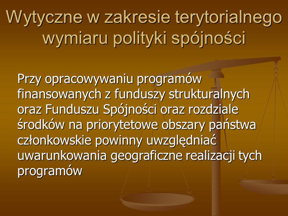 Wytyczne w zakresie terytorialnego wymiaru polityki spójności