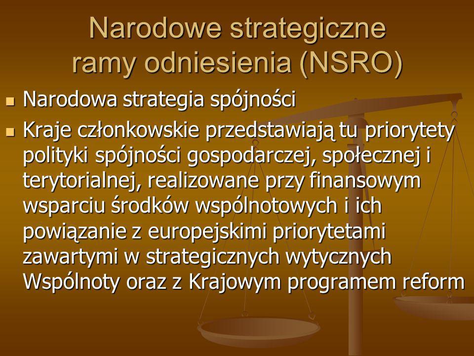 Narodowe strategiczne ramy odniesienia (NSRO)