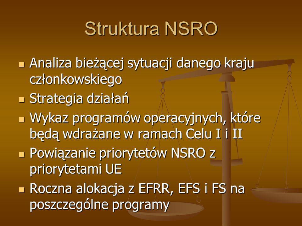 Struktura NSRO Analiza bieżącej sytuacji danego kraju członkowskiego