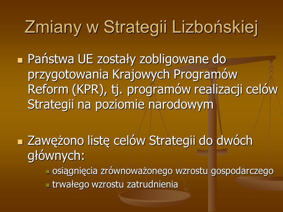 Zmiany w Strategii Lizbońskiej