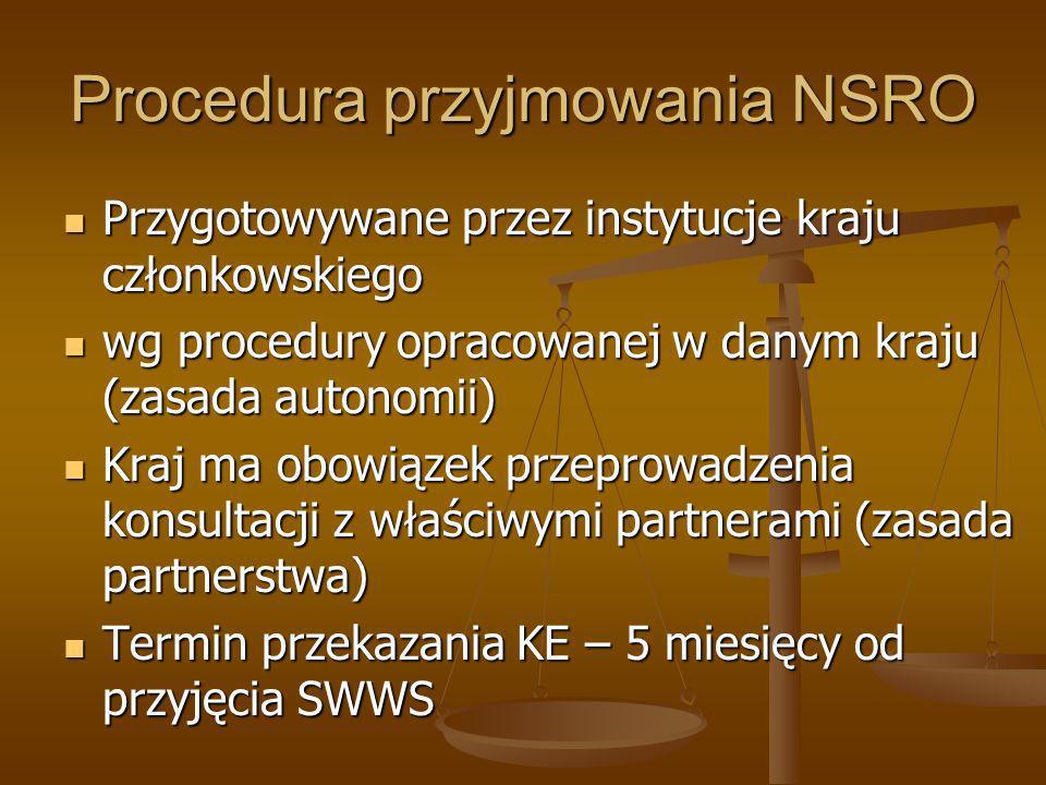 Procedura przyjmowania NSRO