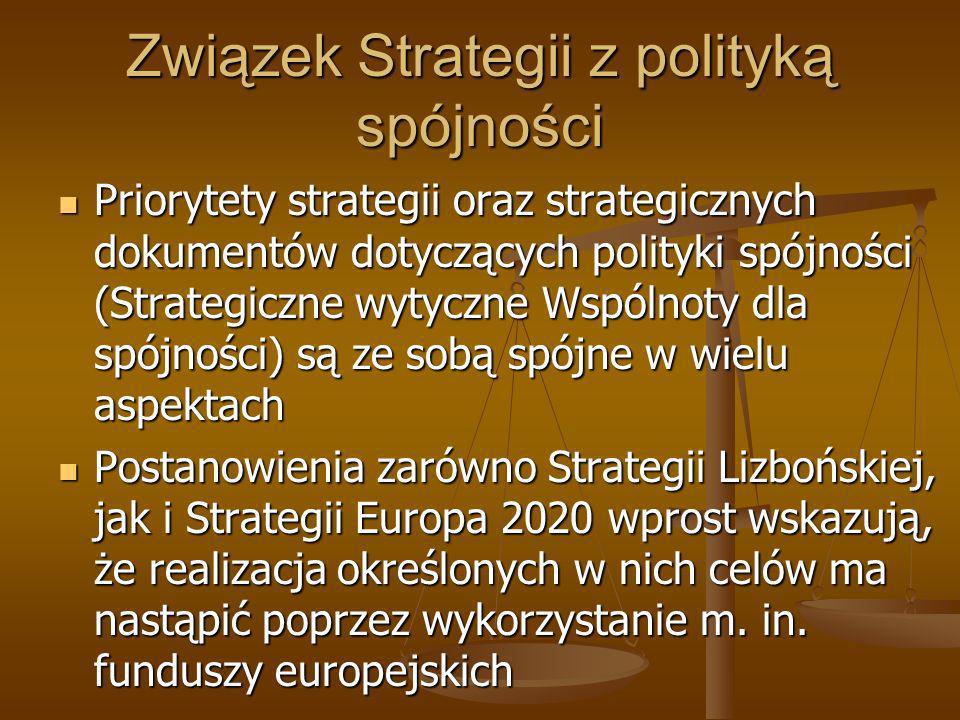 Związek Strategii z polityką spójności